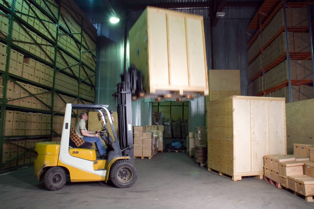 warehouse efficiency via wood pallets from The Pallet Guys