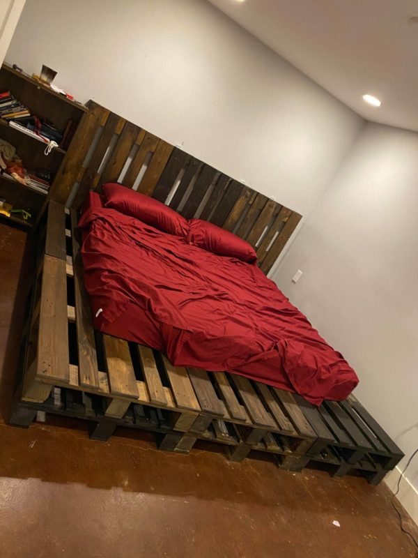Pallet Bed Frame from sale